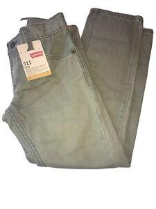 Boys Levis 511 Slim Fit Jeans Size 8 Regular 24x22 Olive New