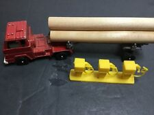 "VINTAGE TOOTSIE TOY LOG HAULER WITH LOGS AND FUEL PUMPS ""RARE CONDITION"""