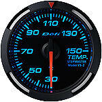Defi Racer Gauge 52mm Temperature Meter DF06704 Blue