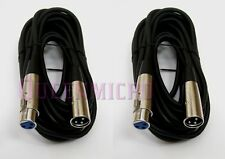 2 Lot - 25FT XLR Male Female 3Pin Microphone Audio Shielded Cord Extension Cable