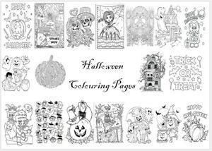HALLOWEEN Colouring Pages -20 Sheets- Perfect for Rainy Day Craft!