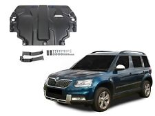 SKODA YETI 2009-2017 ENGINE + GEARBOX GUARD SKID PLATE UNDERTRAY BLACK STEEL