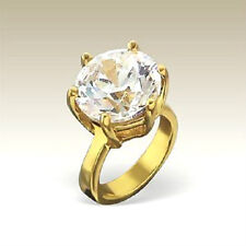 14K Gold/925 Sterling Silver  'Engagement Ring'   European Charm Bead