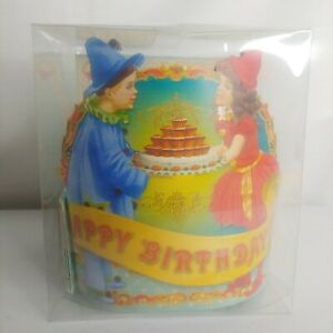 Punch Studio Clown Kids Happy Birthday Party Hats Paper Crowns 12 Pack Cupcakes