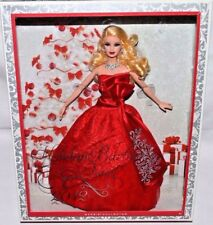 NEW-2012 HOLIDAY BARBIE DOLL-AMAZING SILVER JEWELRY RED & SILVER GOWN-GREEN EYES
