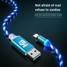 Magnetic Cable Flowing Light LED Micro USB Cable Type-c Charging for iPhone cabl