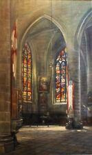 Alexandre LELEU, Eglise Saint Malo de Dinan, Tableau, Peinture, Bretagne, France