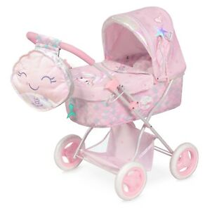 Folding Pram Pink Ocean Mermaid with accessories included for girls toy Pram
