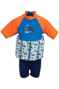 MOTHERCARE BOYS BLUE SWIMSAFE FLOAT SUIT 1-3 YEARS RRP £31.99
