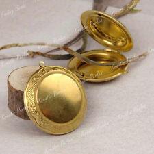 Markenlose Bronze Modeschmuck-Halsketten & -Anhänger im Medaillon-Stil