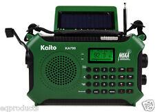 Quick Ship! New Ka700 Green Noaa Am/Fm W/Bluetooth Solar Crank Usb Recorder etc