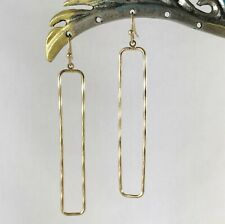Chic Urban Artisanal Lightweight Long Gold Dangle Earrings