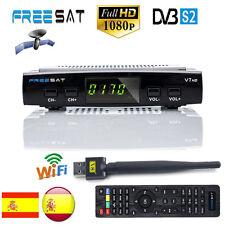 Freesat V7+V8 USB Wifi DVB-S2 Tuner 1080P HD Satellite TV Receiver Digital H.264
