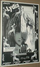 Lydia Lunch RARE LIVE Multi-Date 1994 GIG POSTER Atlanta Tampa Athens Orlando