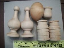 Lot of 6 Unfinished  Wood pieces TO DECORATE Paint Decoupage Craft