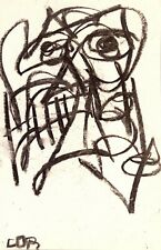 ABSTRACT EXPRESSIONISM ART ORIGINAL DRAWING PAPER GALLERY SKETCH CHARCOAL DECOR