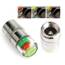 4 x Monitor de Presión de Neumáticos de Coche Alerta de Vástago de Válvula Tapa Sensor indicador de cualquier calce automático