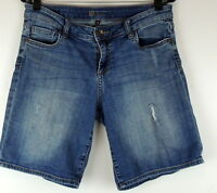 KUT For the Kloth Womens 8 Denim Jean Shorts Destroyed Longer Modest Length I 9""