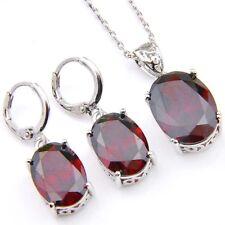 2 Pcs 1 Lot Jewelry Natural Fire Red Garnet Gems Silver Dangle Hook Earrings