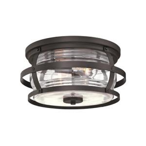 Ciata Lighting Weatherby 2 Light Weathered Bronze Outdoor Flush mount Fixture
