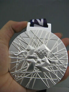 London 2012 Olympic Silver Medal / Ribbons **Free Shipping**