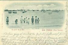 LAS PALMAS EL PUERTO DE LA LUZ. CIRCULADA EN 1898 CON UN PELON.