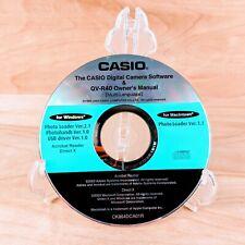 Casio Digital Camera Software & QV-R40 Owner's Manual PC CD-ROM 2003