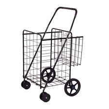 Topbuy Utility Folding Shopping Cart with Swivel Wheels Easy Storage