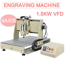 1.5kw cnc 6040 4 axis router DRILLING MILLING ENGRAVER mill MACHINE Desktop 110v