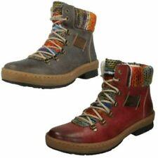 Calzado de mujer botines grises textiles