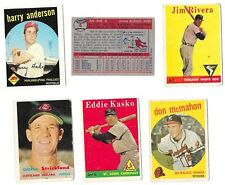 1957 1958 1959 topps baseball set-$1.11 ea-NICE fillers-VG/FAIR -you pick lot