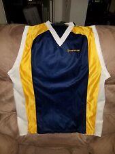Vintage Rare Dunlop jersey sleeveless v neck Size large Grey yellow blue