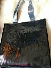 £390 Love Moschino Quilted Patent tote handbag weekend Shopper Bag LARGE dustbag