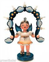 Hubrig Engel mit  Lichterbogen 53cm Lichterengel +Bonus Erzgebirge Sternenbogen