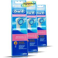 3x Oral B Vitalidad 2 cabezas de cepillo de dientes sensible Triumph