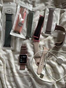 Rose Gold Apple Watch & Pink Sands Strap 38mm Sports Loop & Milanese Loop Bundle