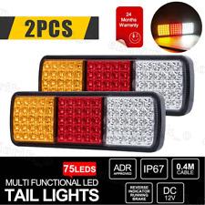2X LED Tail Lights Stop Reverse Indicator 12V Ute Trailer Caravan Truck Boat OZ