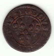 French Colonial, 1621 G  copper double tournois, Louis XIII