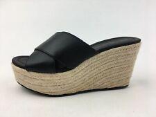 Michael Antonio Espadrille Wedge Sandals, Women's Size 7, Black 3152
