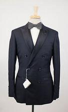 New BRUNELLO CUCINELLI Navy Blue Cashmere DB Tuxedo Suit Size 48/38 R $5895