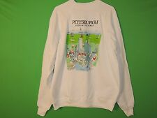VTG Pittsburgh Men's Size XXL / 2XL View Of The World Sweatshirt Philly, DC, NYC