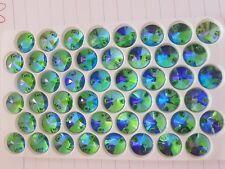 12mm green ab rivoli Sew On Stitch  Bead JEWEL GEM Glass CRYSTAL RHINESTONE