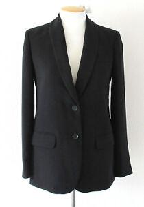 NEW J Crew Factory Womens Black Crepe Blazer Work Suit Jacket B9367 Size 10 $148
