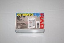 "RAB B3W White Outlet Box 1/2"", 3 Hole, Single Gang, Weatherproof - New"