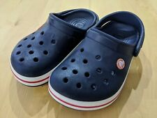 Crocs Blue Unisex Rubber Clogs Junior UK Size 1