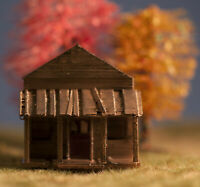 HO Scale abondoned house set kit (Gray) 3 Hobby train town pieces