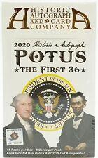 2020 исторические автографы президент первые 36 хобби коробка 16 упаковок коробка 8 карточек упаковка