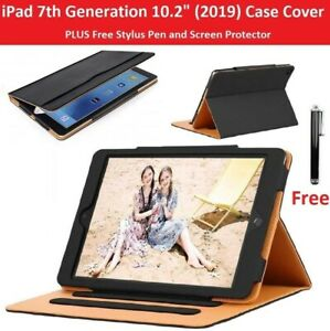 """For iPad 10.2"""" 7th Gen 2019 A2197 A2200 A2198 Premium Leather Folio Stand Cover"""