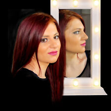 Cosmetic Make Up Mirror White Hollywood LED Warm Light Bulb Surround Battery