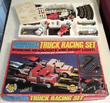 VINTAGE TRUCK RACING SCALEXTRIC SET with LIGHTS
